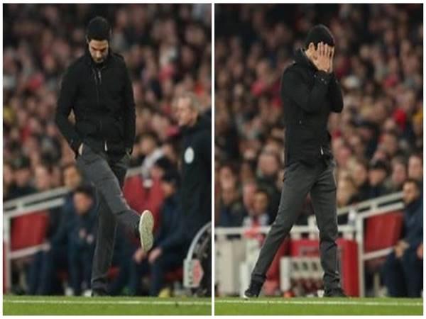 HLV Mikel Arteta chán nản sau sai lầm tệ hại củ thủ môn Arsenal