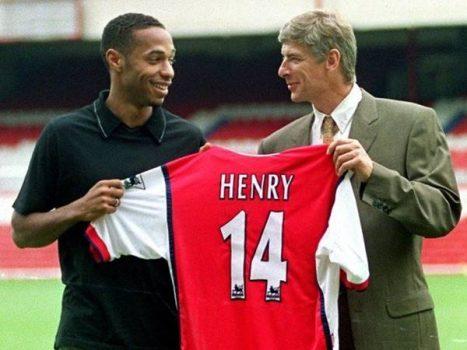Lý do Thierry Henry chọn số áo 14 ở đội bóng Arsenal